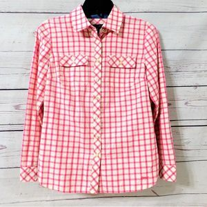 Talbots Petites Women's Plaid Button Down Shirt